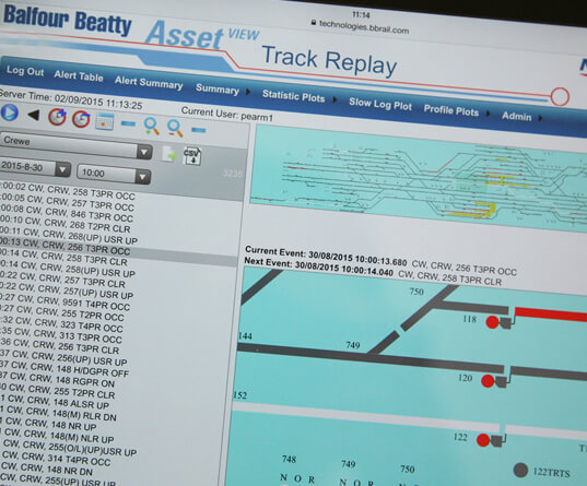 AssetView software on screen